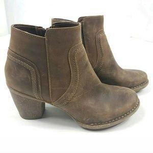 Clarks Nubuck Carleta Paris Leather Boots 8.5M